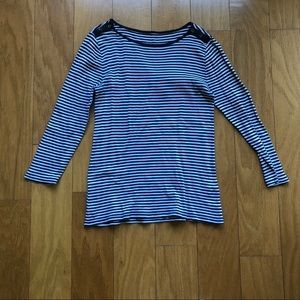 J.Crew Perfect Fit Striped Boatneck Cotton Tee